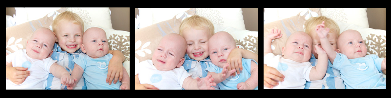 triptic of 3 brothers - family portrait photography sydney