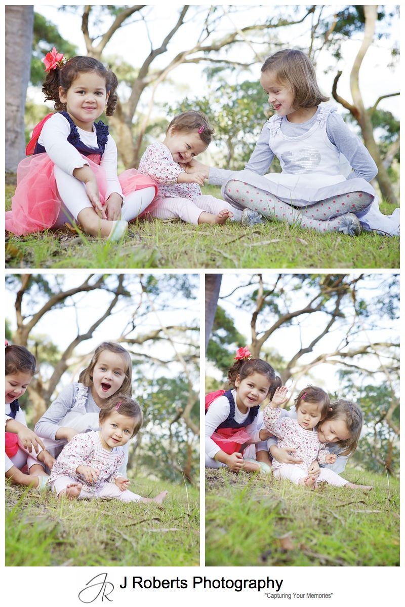 Sydney Family Portrait Photography Killarney Heights - Little sisters in fairy dresses photography