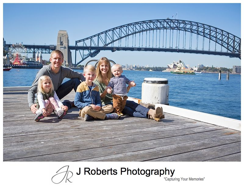 Overseas Visitors Family Portrait Photography Sydney Californian Family at Blues Point Sydney