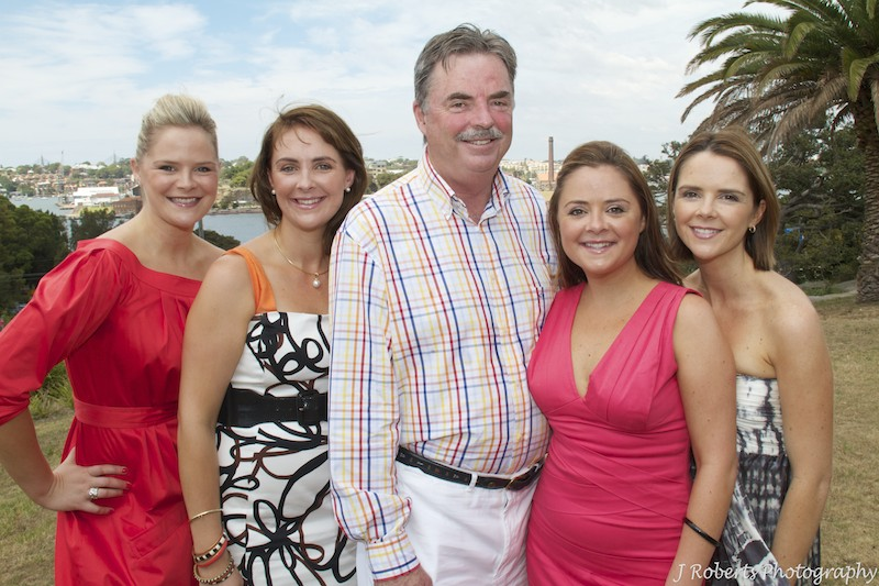 Father with his 4 daughters - party photography sydney