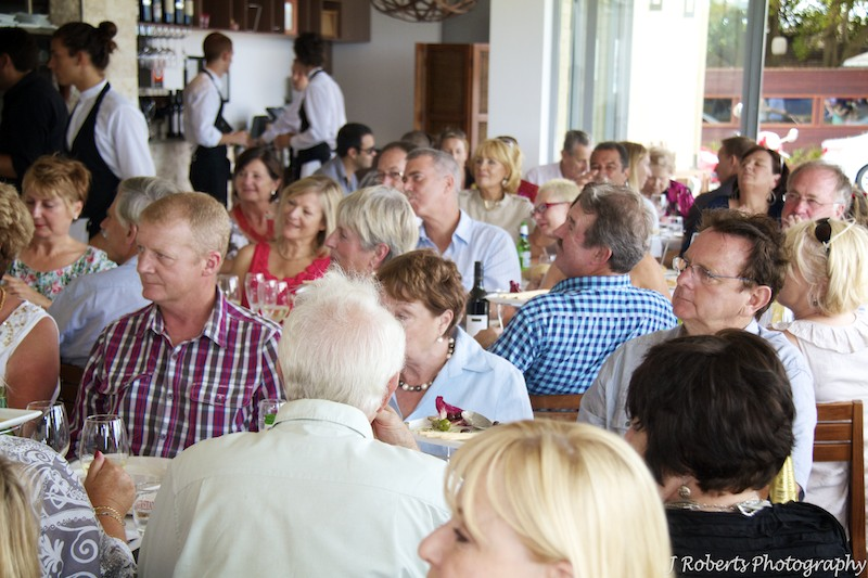 guests watching speeches - party photography sydney