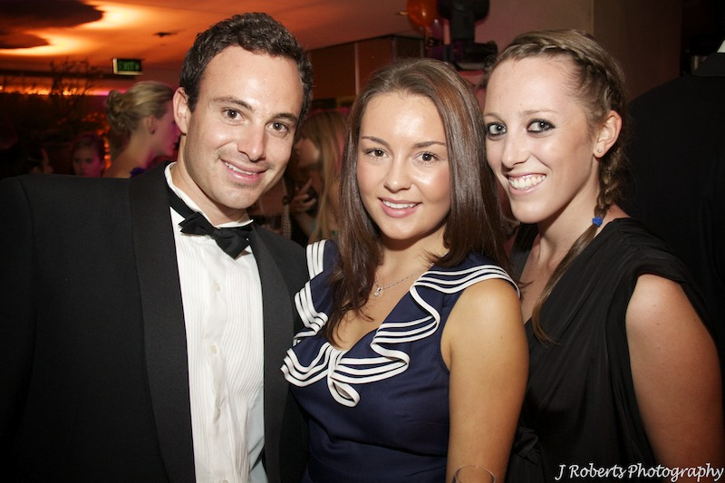 Guests at a black tie party - party photography sydney