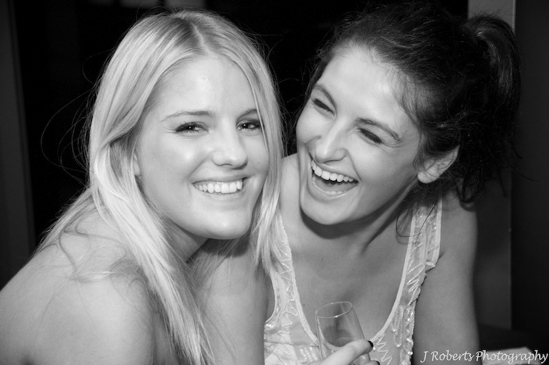 Girls laughing - party photography sydney