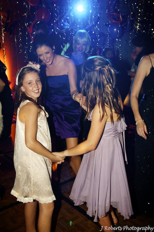 Girls dancing - party photography sydney