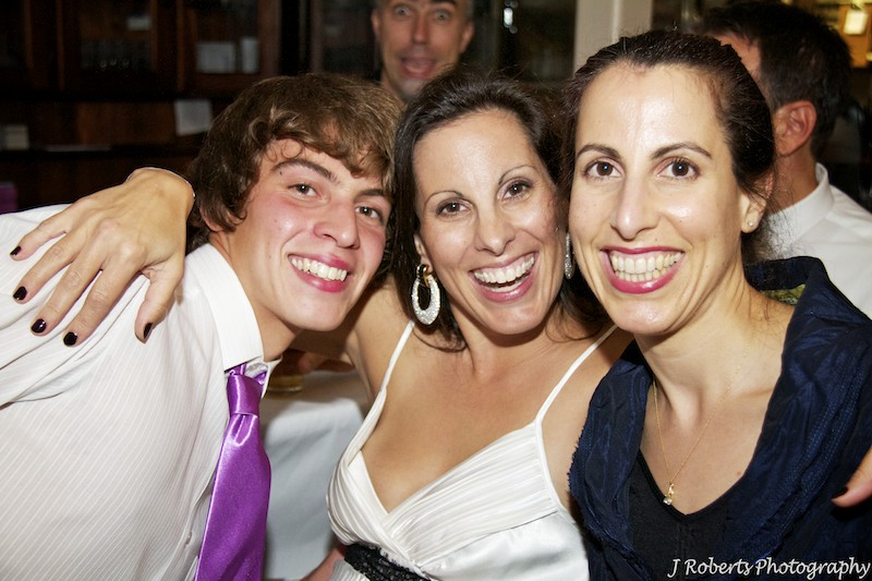 Mother and son laughing - party photography sydney