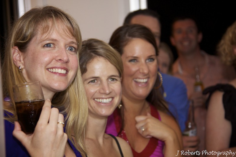 Girls watching speeches - party photography sydney