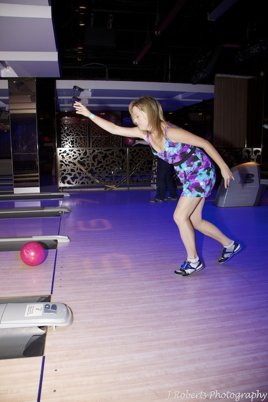 Bowling action - party photography