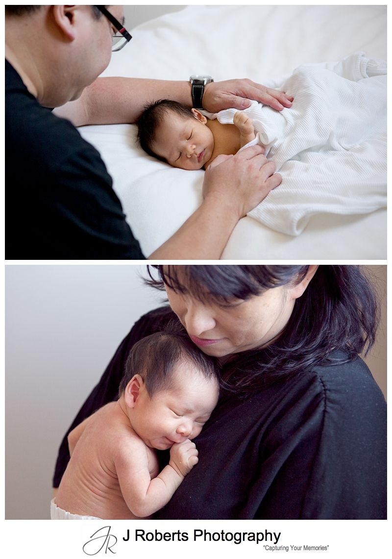 Professional Newborn Baby Portrait Photography Sydney Famliy Home Kensington