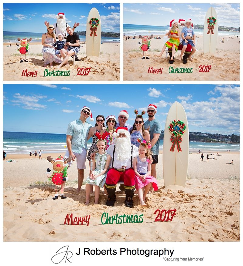 Santa at the beach Long Reef Sydney Northern Beaches Santa Photos Christmas 2017