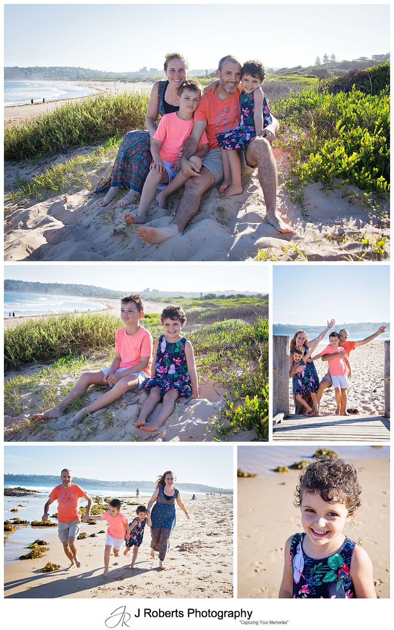 Summer Mini Family Portrait Session Fun at Long Reef Beach on a Sunday Afternoon