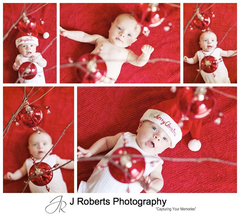 Baby first christmas portraits - sydney baby photographer