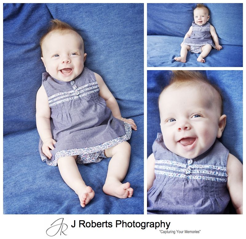 Laughing little girl - sydney baby photography