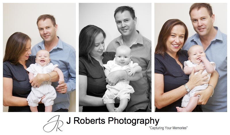 Parents with their baby son - sydney baby portrait photographer