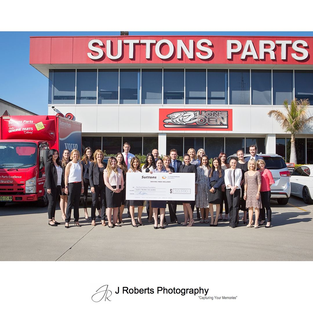 Sydney Corporate PR Photography Suttons Motors Charity Initiative for the Fred Hollows Foundation
