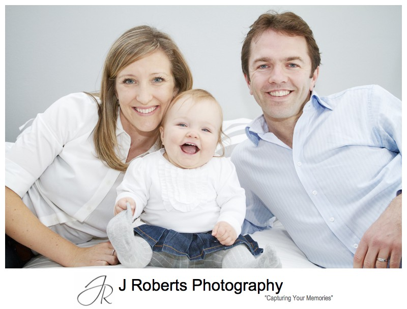 Family of 3 portrait - portrait photographer sydney