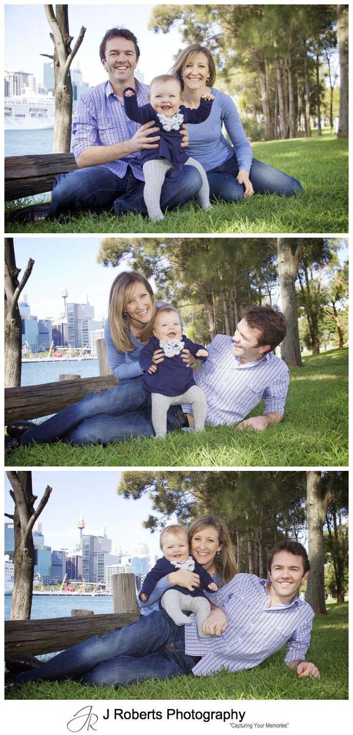 Family portraits in a park in balmain - family portrait photography sydney