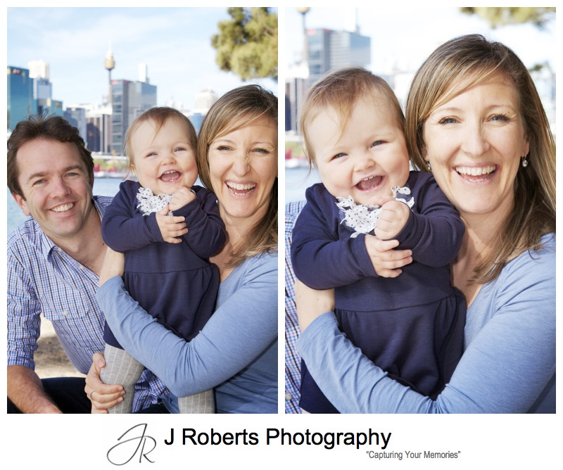 Laughing family portraits - family portrait photography sydney