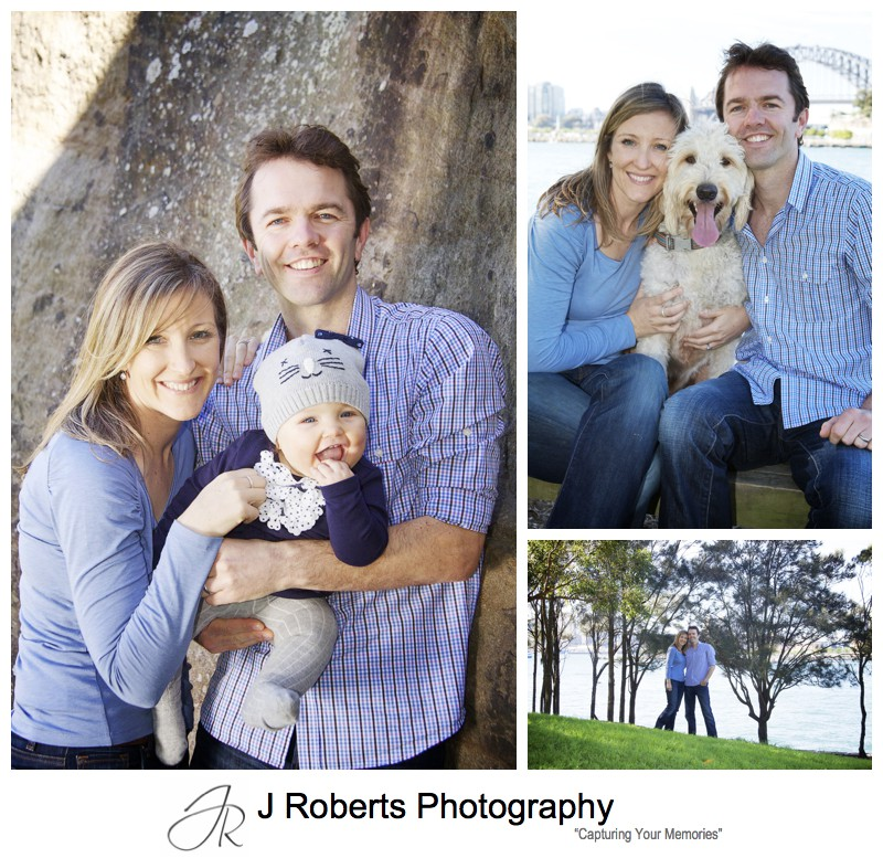 Portraits with family dog at park in balmain - sydney portrait photographer