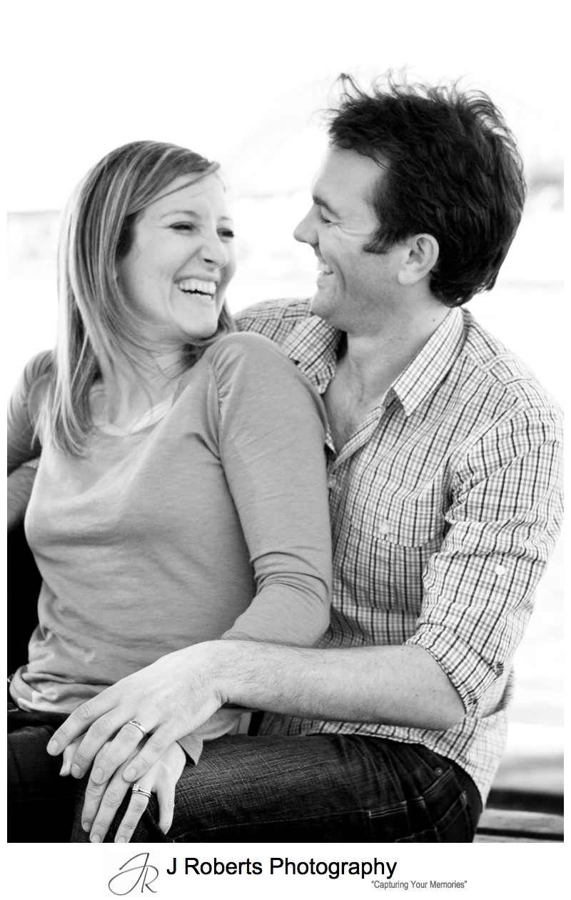Couple laughing - family portrait photography sydney