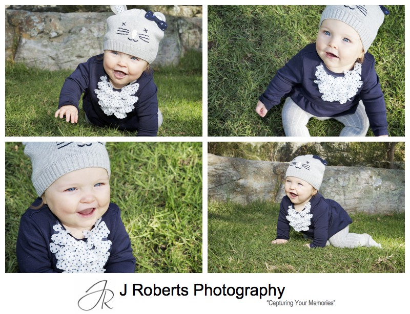 Portraits of a 9 month old baby girl - family portrait photography sydney