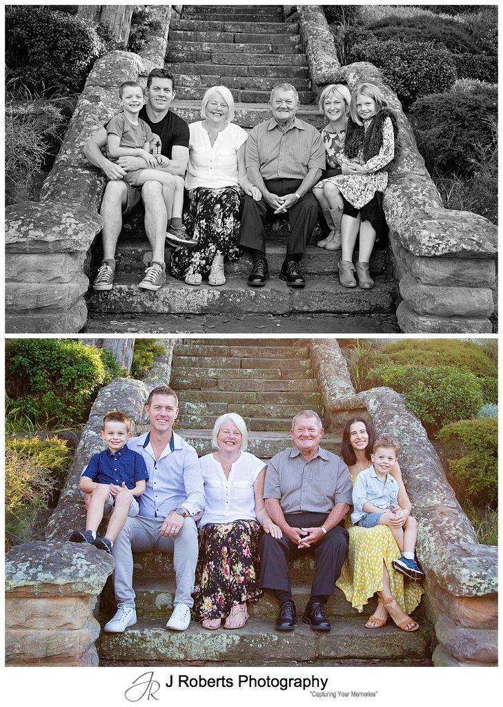 Sydney Family Portrait Photographs of Extended Family at Echo Point Roseville Chase