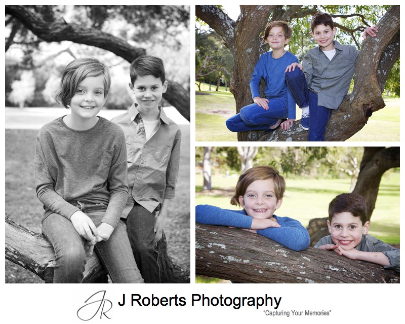 Portraits of step siblings - family portrait photography sydney