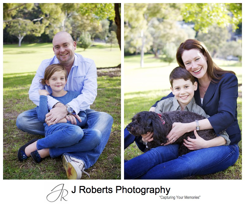 Portraits of parents with their children - family portrait photography sydney