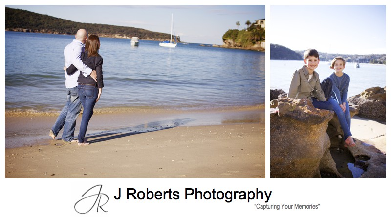 FAmily portraits at Chinaman's Beach Mosman - family portrait photography sydney