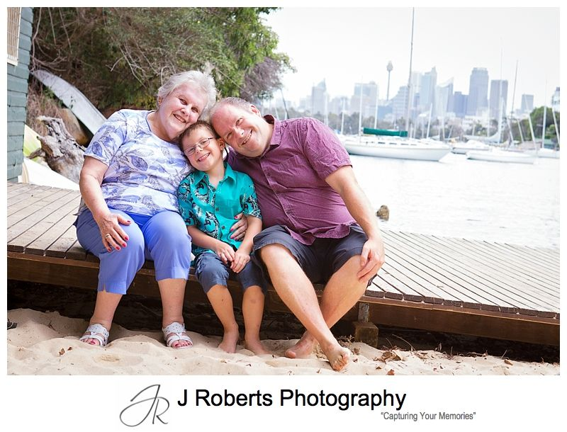 Sydney Family Portrait Photography Sirius Cove Mosman Visiting Grandma from England