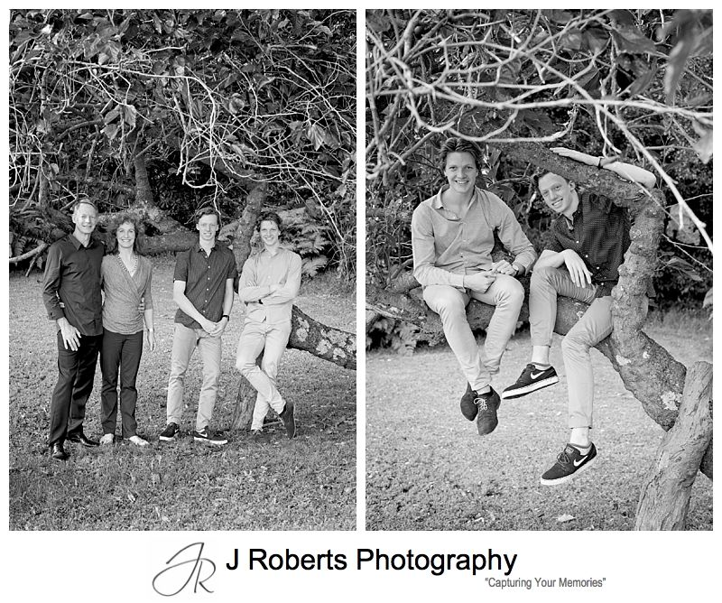 Sydney Family Portrait Photography Tambourine Bay Riverview Fun Extended Family