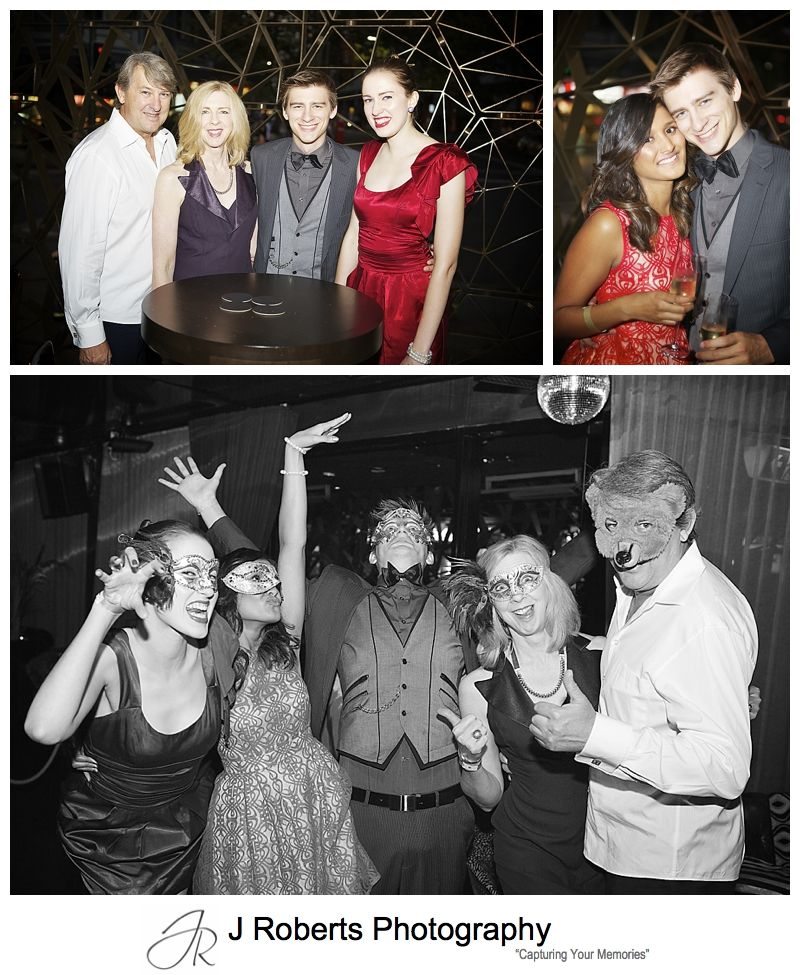 Fun family photo at 21st birthday party at goldfish kings cross - sydney party photography