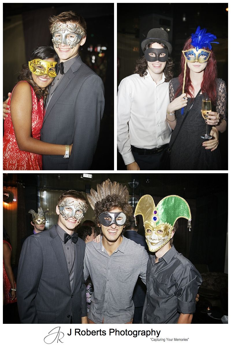 Masquerade  party photography sydney