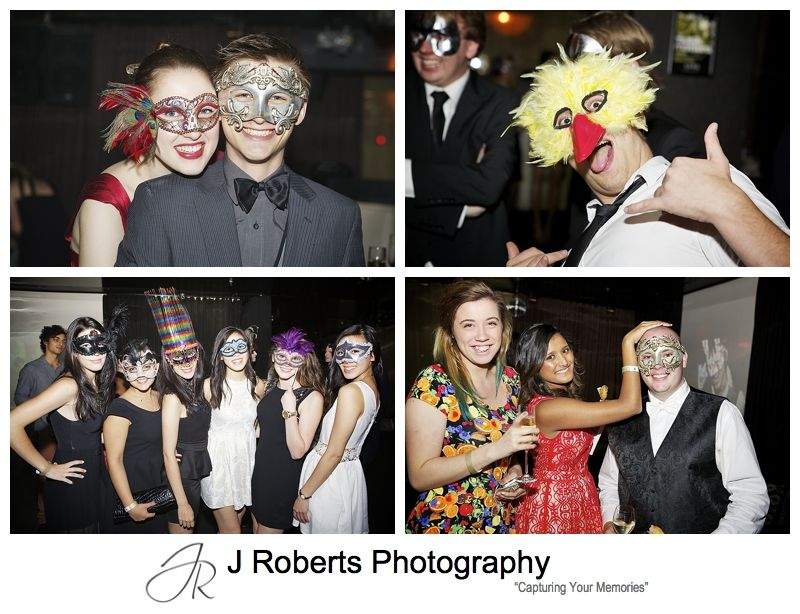 21st birthday masquerade party - sydney party photography
