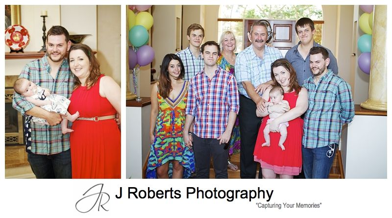 Family portraits at a party - sydney party photography