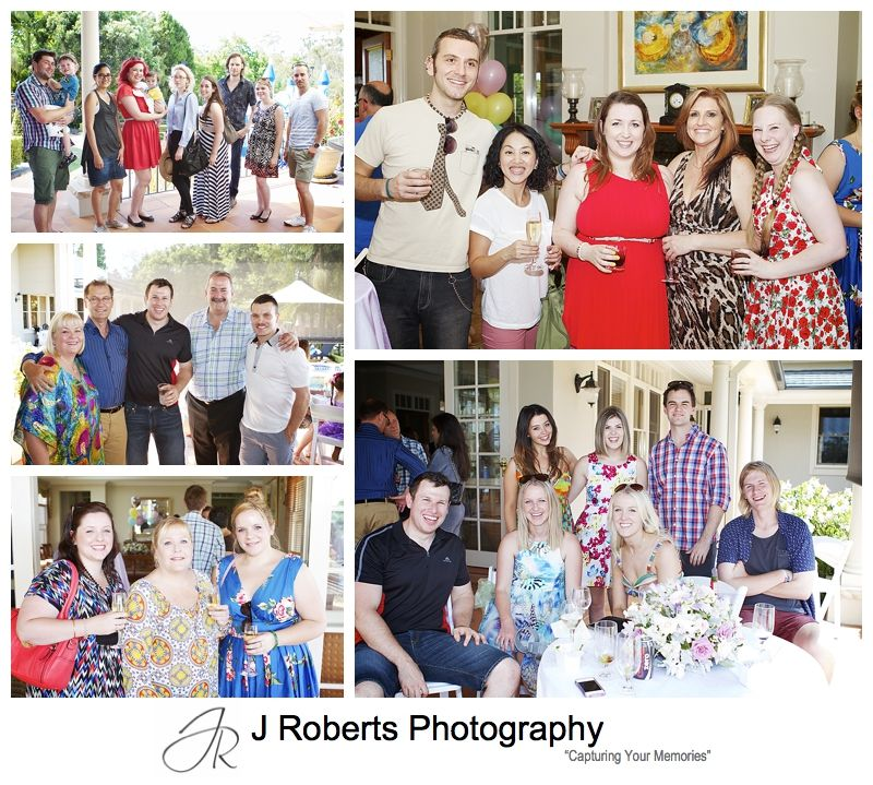 Guest groups at party - sydney party photography