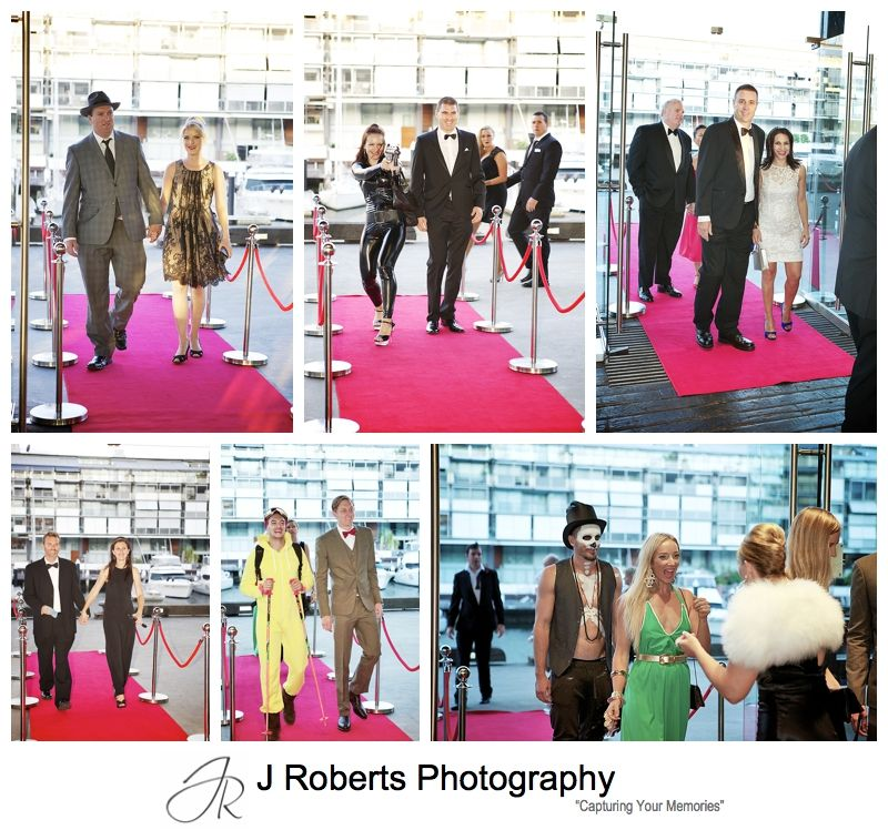 Red carpet arrivals at James Bond Themed birthday party - sydney party photograph