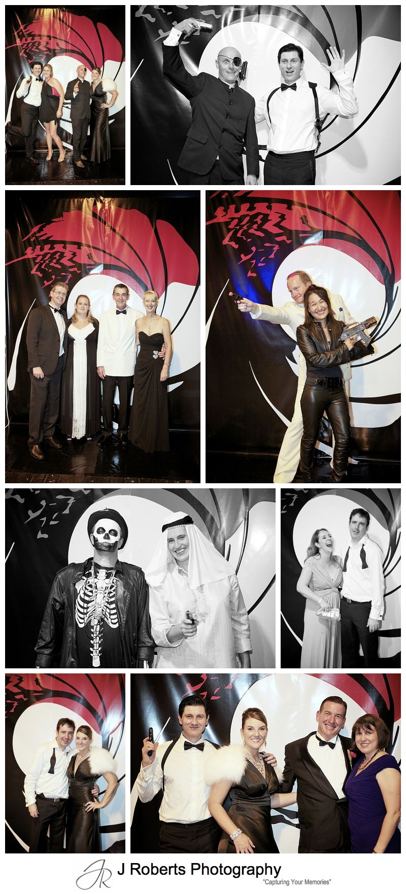 James bond theme photo booth at party - sydney party photography