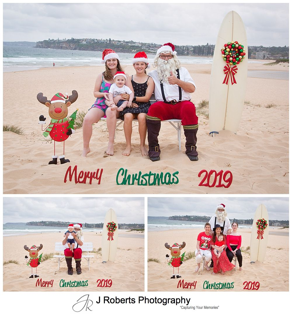 Sydney Santa Photos at the Beach by J Roberts Photography at Long Reef Beach
