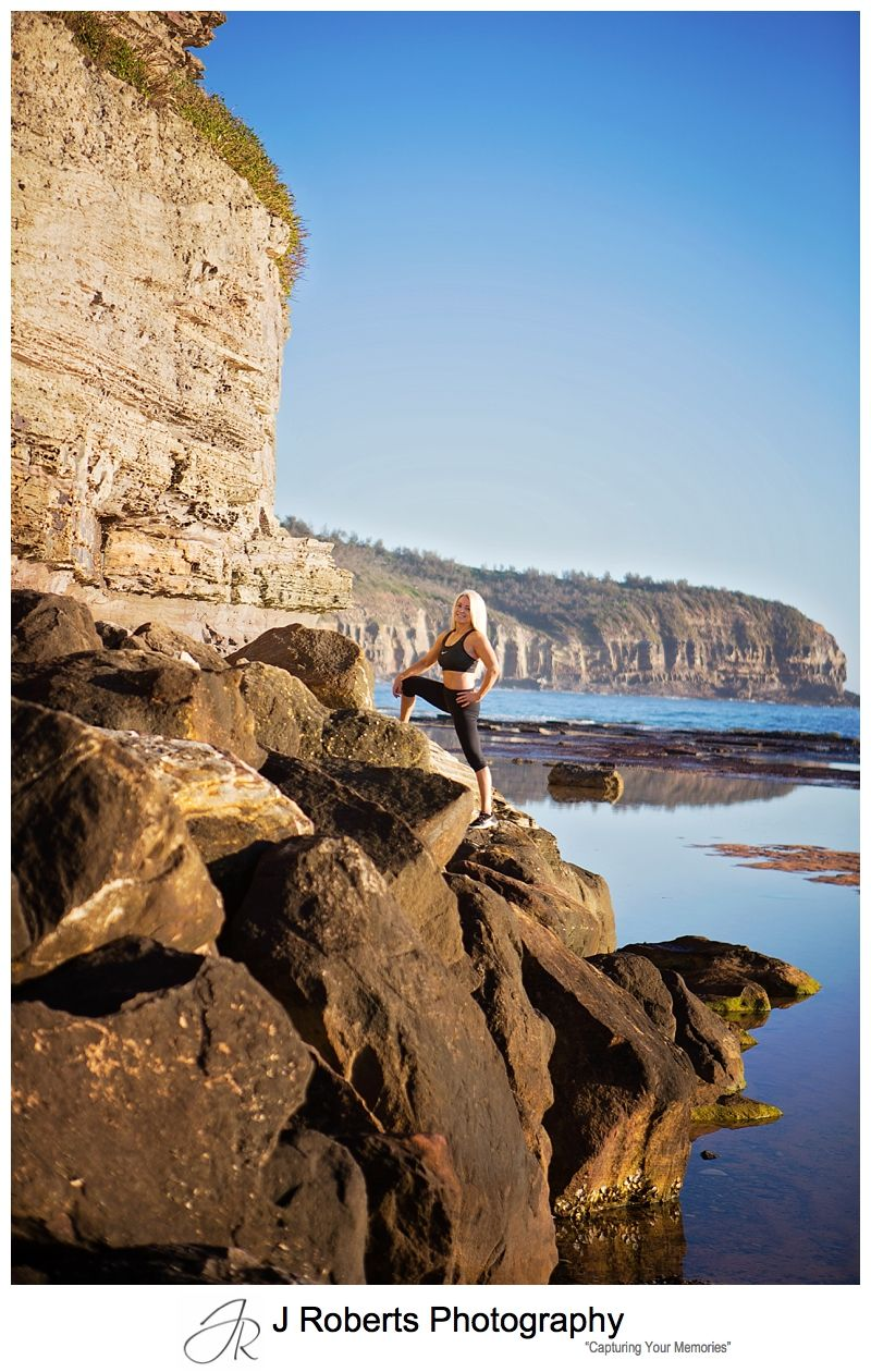 Sydney Website and Business Images for Personal Trainer Taken at North Narrabeen Rockpool Sydney Sunrise