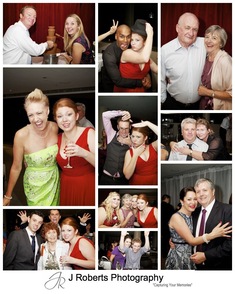 Partying guests at wedding cocktail party - sydney wedding party photography