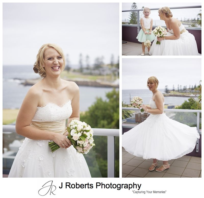 Bride with a 50s style wedding dress twirling -sydney wedding photographer
