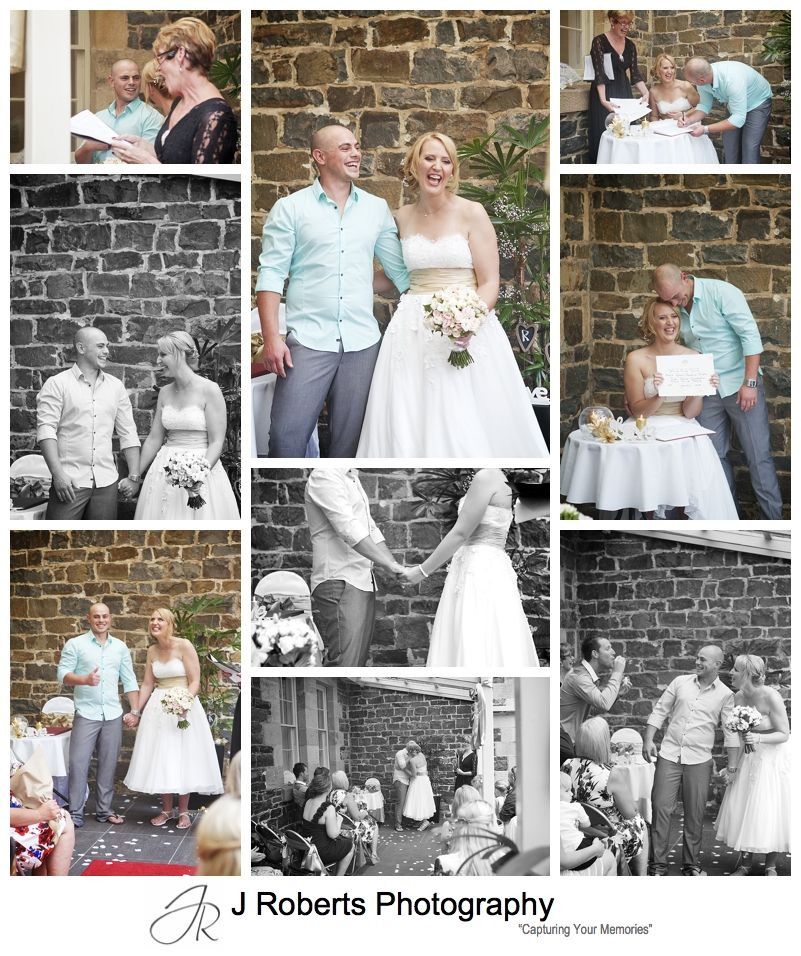 Ranging facial expression of the couple during their wedding ceremony - sydney wedding photographer