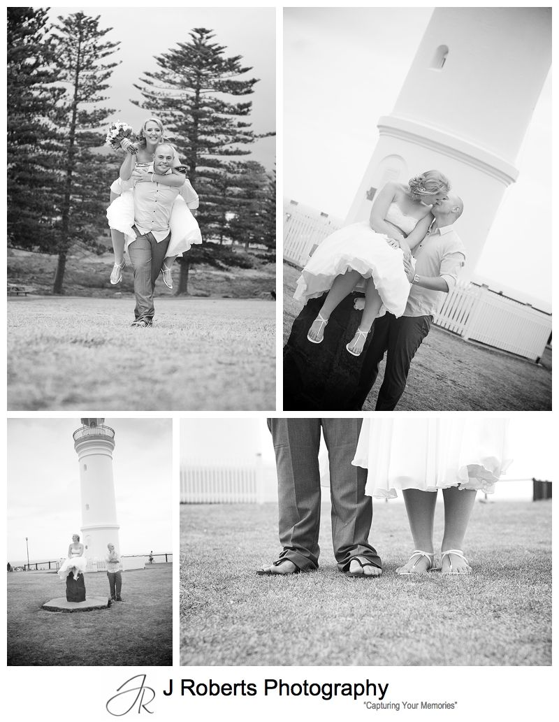 Bridal portraits at the lighthouse at Kiama - sydney wedding photographer