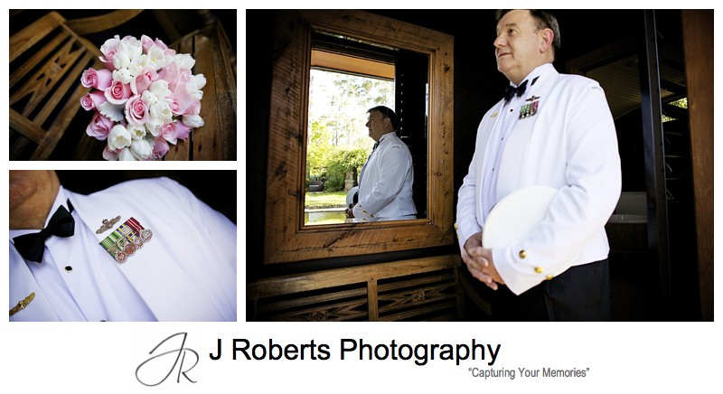 Father of the bride in full navel uniform - sydney wedding photography