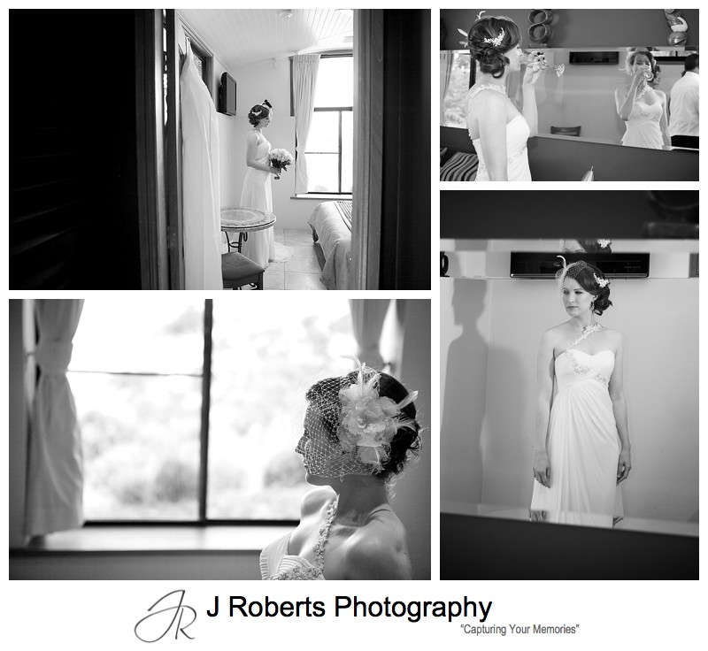 B&W portraits of a bride - sydney wedding photography