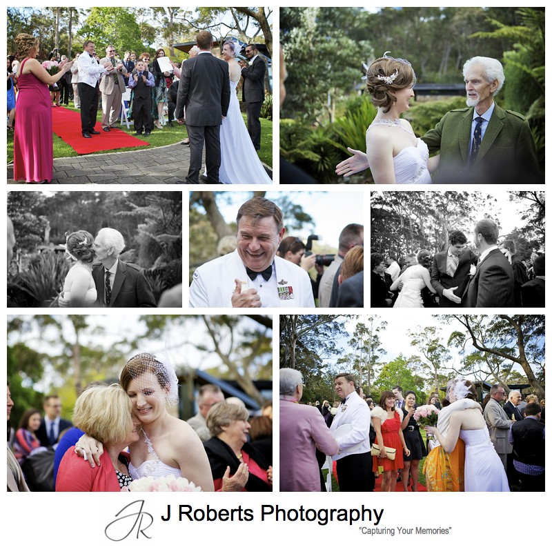 Guests congratulating the couple - sydney wedding photography