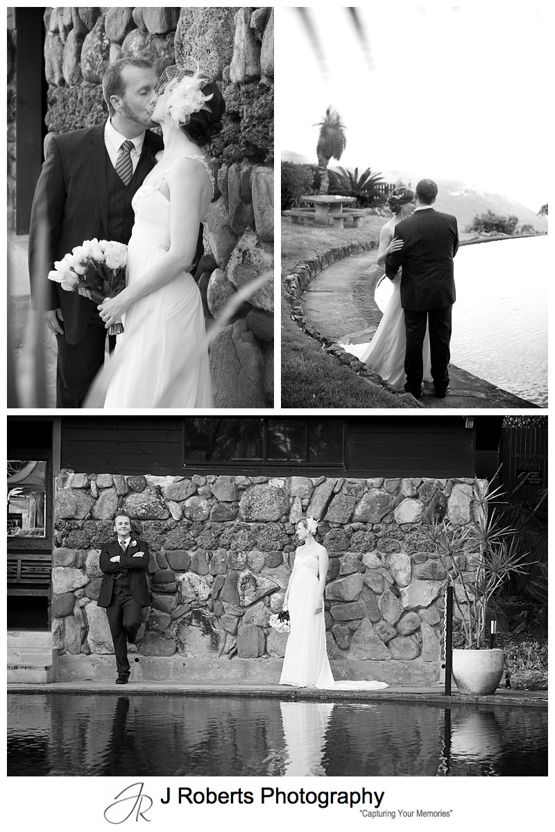 Stunning B&W images of a bride and groom - sydney wedding photography