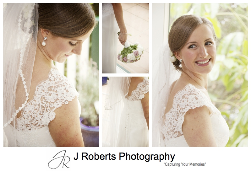 Beautiful soft portraits of a bride - sydney wedding photographer