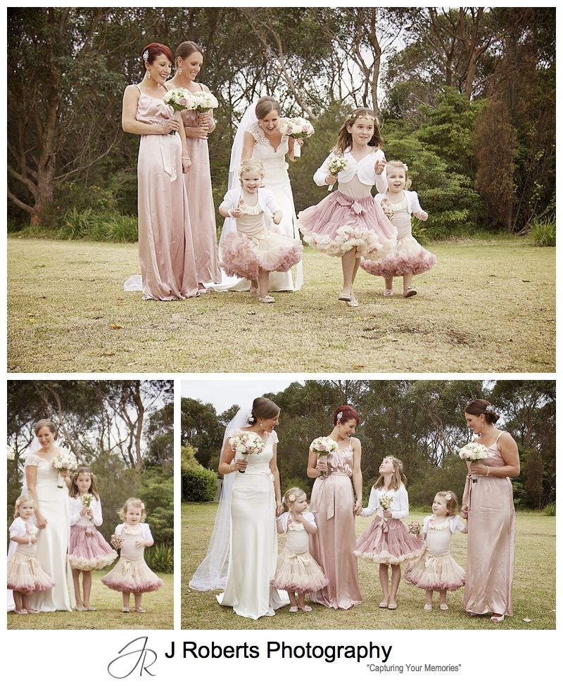 Vintage inspired flowergirls and bridesmaids - sydney wedding photography