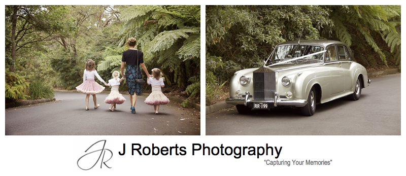 Bride arriving in Rolls Royce - sydney wedding photography